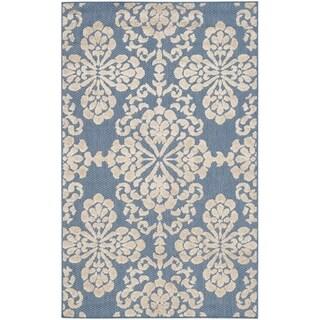Safavieh Cottage Light Blue/ Beige Rug (3'3 x 5'3)