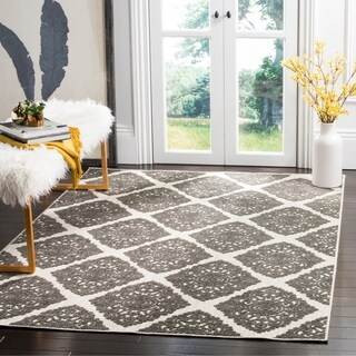 Safavieh Cottage Cream/ Grey Rug (5'3 x 7'7)