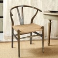 Adeco Elm Wood Vintage Wishbone Dining Chairs (Set of 2)