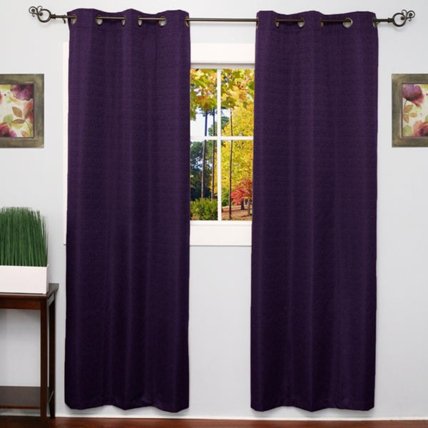 ... , Foam Backing, Faux Silk Blackout Grommet 84-Inch Curtain Panel Pair