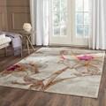 Safavieh Porcello Ivory/ Grey Rug (6'7 Square)