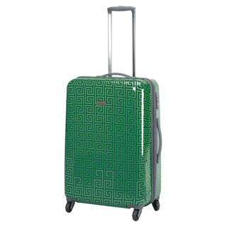 Happy Chic by Jonathan Adler Greek Key 25-inch Hardside Spinner Upright Suitcase