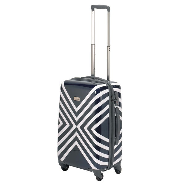 Happy Chic Navy/ White by Jonathan Adler 21-inch Hardside Carry-on Spinner Suitcase