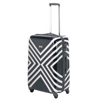 Happy Chic by Jonathan Adler Navy/ White 25-inch Hardside Spinner Upright Suitcase