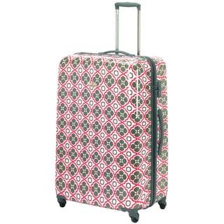 Happy Chic by Jonathan Adler Orange/ Grey 29-inch Hardside Spinner Suitcase
