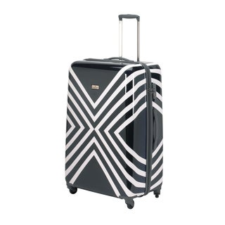 Happy Chic by Jonathan Adler Navy/ White 29-inch Hardside Spinner Upright Suitcase