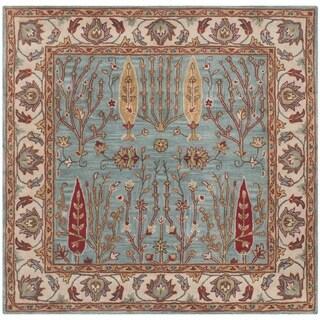 Safavieh Hand-Tufted Heritage Blue/ Ivory Wool Rug (6' Square)