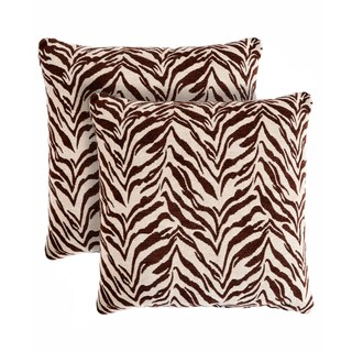 Slumber Shop Zebra Decorative 18-inch Throw Pillow (Set of 2)