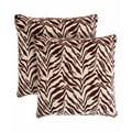 Slumber Shop Zebra Decorative 18-inch Throw Pillow (Set of 2)
