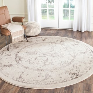 Safavieh Porcello Ivory/ Light Grey Rug (6'7 Round)