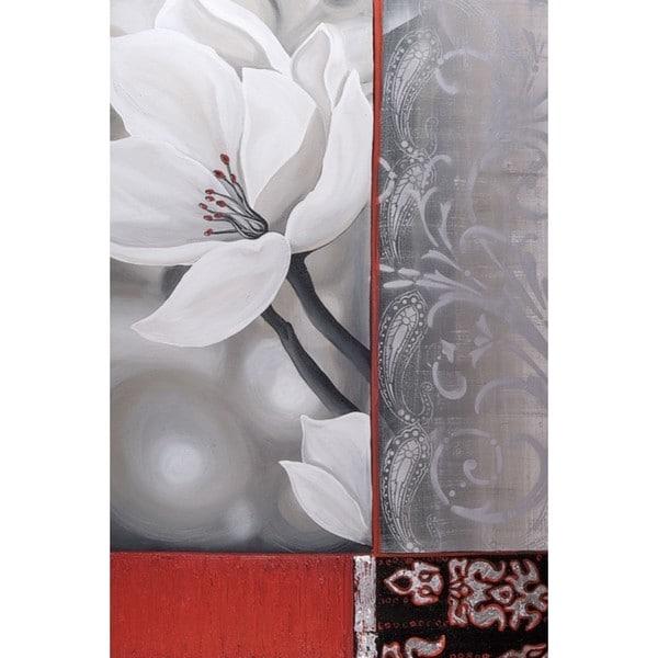 Zara Jasmin Copley 'Bohemia Flora White' 24 x 36 Gallery Wrap Canvas