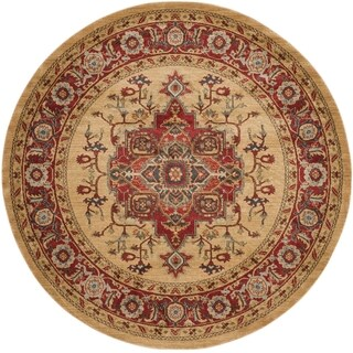 Safavieh Mahal Red/ Natural Rug (6'7 Round)