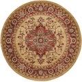 Safavieh Mahal Red/ Natural Rug (6'7 Round)