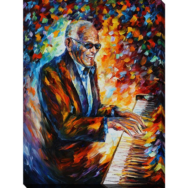 Leonid Afremov 'Ray Charles' Giclee Print Canvas Wall Art 15879798