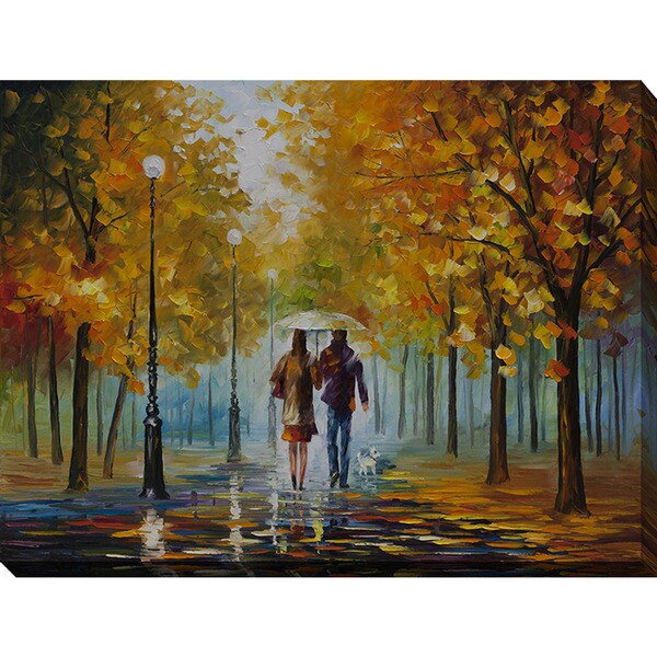 Leonid Afremov 'Autumn Elegy' Giclee Print Canvas Wall Art