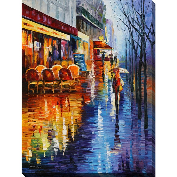 Leonid Afremov 'Cafe In Paris II' Giclee Print Canvas Wall Art