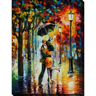 Leonid Afremov 'Dance Under The Rain' Giclee Print Canvas Wall Art