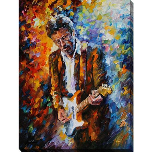 Leonid Afremov 'Eric Clapton' Giclee Print Canvas Wall Art