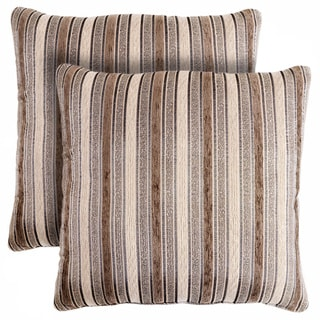 Slumber Shop Smithtown Stripe Decorative 18-inch Throw Pillow (Set of 2)
