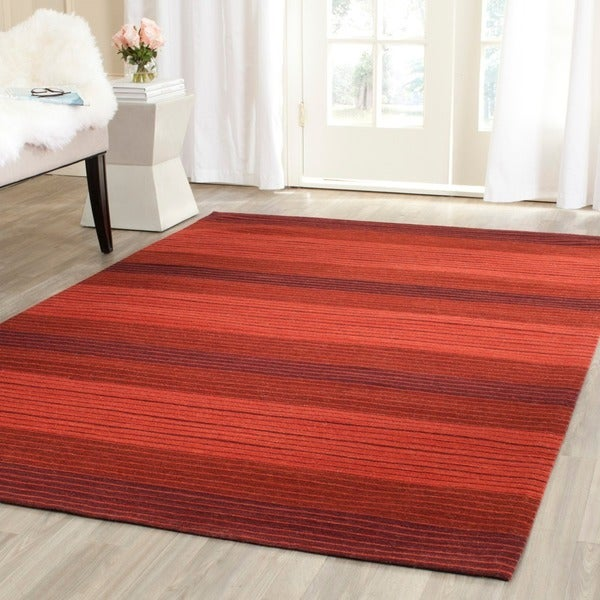 Safavieh Hand Woven Marbella Red Wool Rug 8 X 10