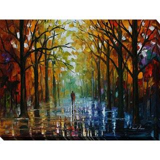 Leonid Afremov 'Fall Date' Giclee Print Canvas Wall Art