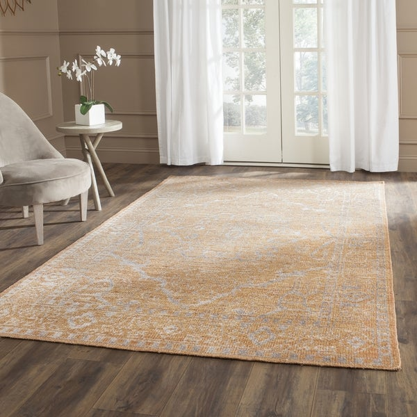 Safavieh Hand-knotted Stone Wash Brown/ Silver Wool Rug (4' x 6')