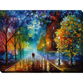Leonid Afremov 'Freshness Of Cold' Giclee Print Canvas Wall Art