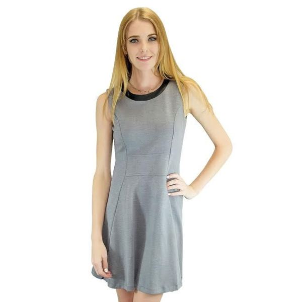 Relished Women's Graduate Grey Sleeveless Dress