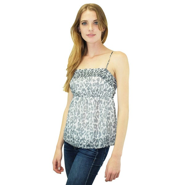 Relished Women's Notting Hill Grey Leopard Top