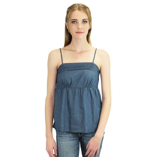 Relished Women's Kris Pintucked Chambray Tank Top