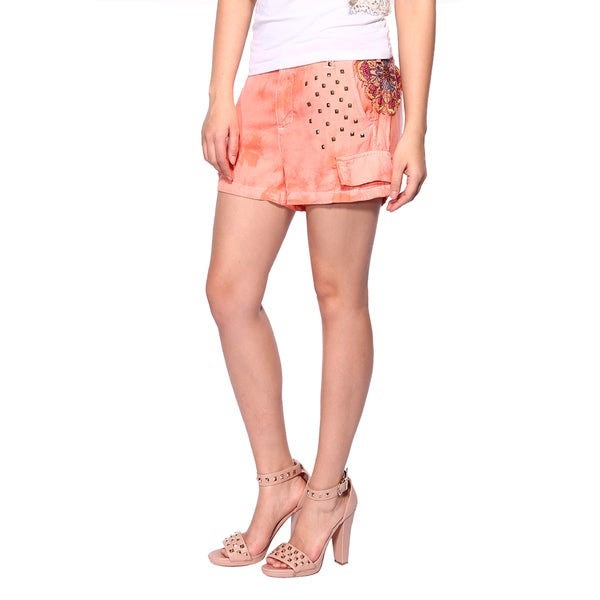 Da Nang Summer Shorts Yong Girls Causal Pants Studed Accents Silk Beach School