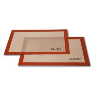 Artisan Two Pack Non-Stick Silicone Baking Mat Set, 16 5/8 x 11