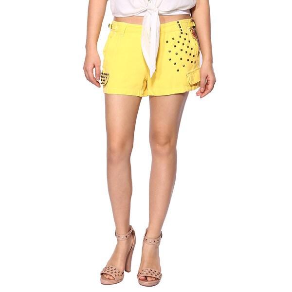 Da Nang Women's Summer Shorts Girls Casual Fashion Pants Studded Silk Beach School