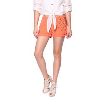 Da Nang Women's Cotton Casual Floral Studded Pants