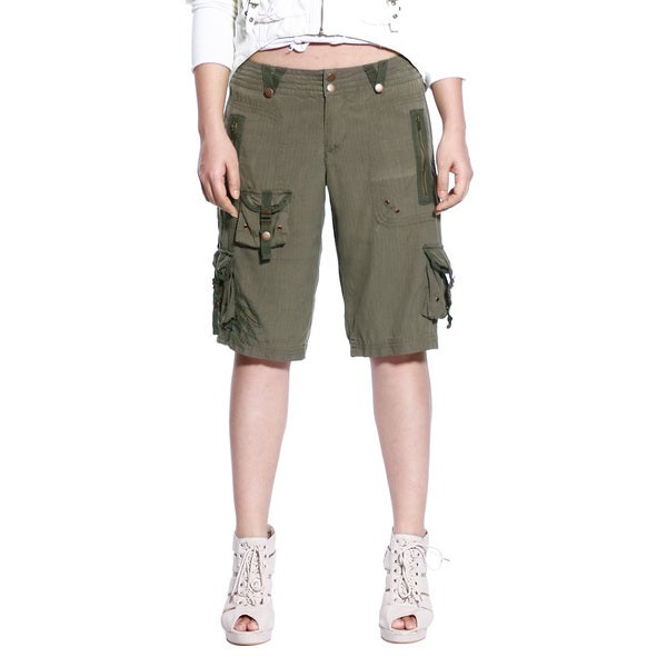 Da Nang Women's Knee Length Cargo Capri Pants