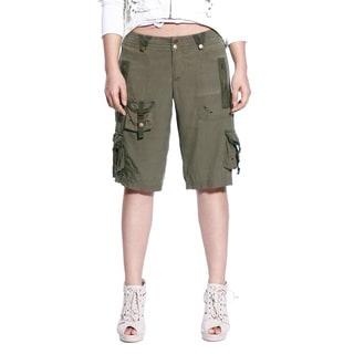 Da Nang Women's Knee Length Cargo Capri Pants