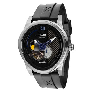 Egard Men's PSG-STL Passages Limited Edition Round Black Rubber Strap Watch