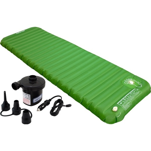 Altimair Frontier series Outdoor Camping Air Matttress/Mat/Pad and 2 in 1 Electric Air Pump 2ABTPU01DBP Green