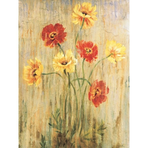 liz Jardine 'Poppy Serenade' 30 x 40 Gallery Wrap Canvas