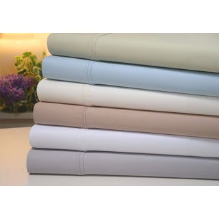 Bibb Home 1000 Thread Count Cotton Rich 6 Piece Sheet Sets