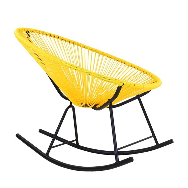 Acapulco Indoor/Outdoor Rocking Chair in Yellow