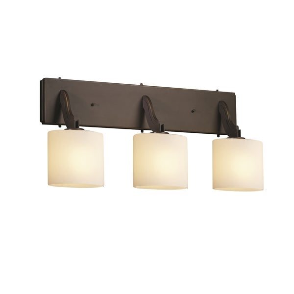 Justice Design Bend 3-Light Bath Bar