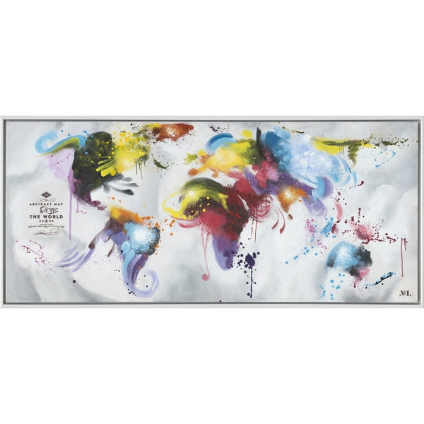 Rainbow World Map Wall Art
