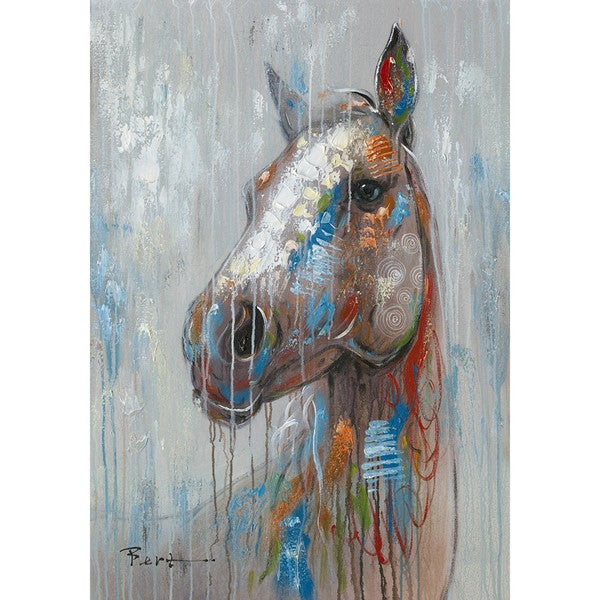 Happy Horse Canvas Wall Art
