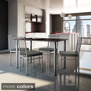 Amisco Alan Metal Chairs and Ray Table Dining Set