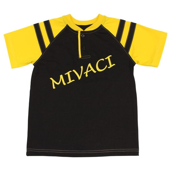 Boy's Mivaci Black and Yellow Short Sleeve T-shirt