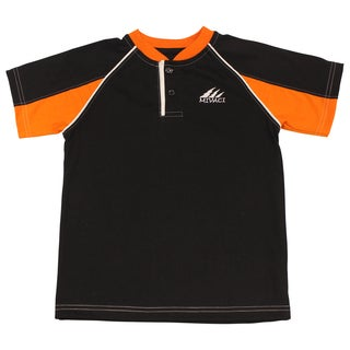Boy'S Mivaci Black And Orange Short Sleeve T-Shirt