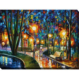 Leonid Afremov 'Park By The Lake' Giclee Print Canvas Wall Art