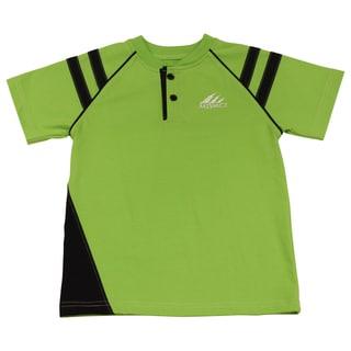 Boy'S Mivaci Green And Black Short Sleeve T-Shirt
