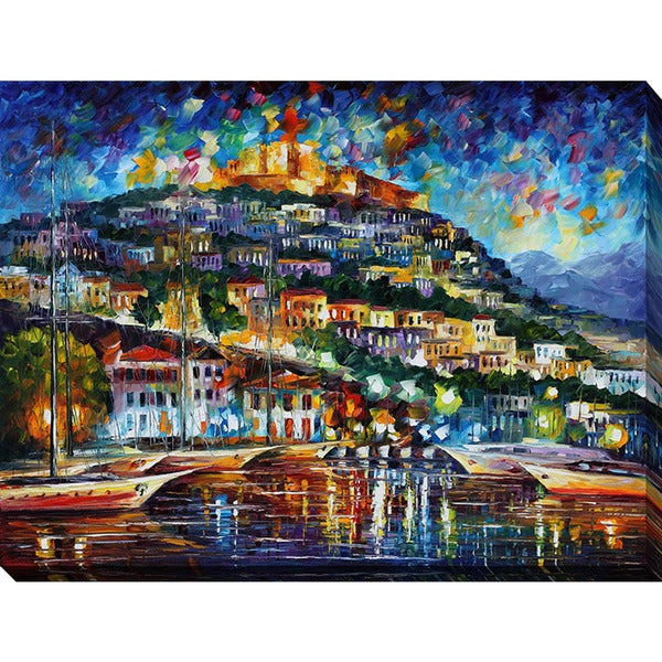 Leonid Afremov 'Greece - Lesbos Island' Giclee Print Canvas Wall Art